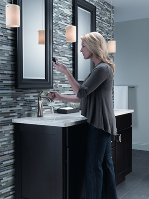 New technologies for the bathroom, such as touch-activated faucets, can cut down on the transfer of dirt and mess from the hands to the faucet, helping to make the bathroom and home a cleaner place.
