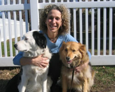 Dr. Fallek With Destiny & Savannah (PRNewsFoto/Holistic Vet)