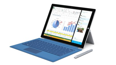 Surface Pro 3 has a 12-inch ClearType Full HD display, 4th-generation Intel Core processor and up to 8 GB of RAM. With up to nine hours of Web-browsing battery life, Surface Pro 3 has all the power, performance and mobility of a laptop in an incredibly lightweight, versatile form.