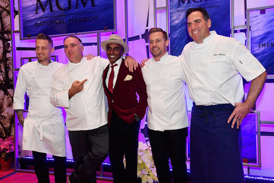 Celebrated Chefs Michael Voltaggio, Jose Andres, Marcus Samuelsson and Bryan Voltaggio join MGM National Harbor Executive Chef Jason Johnston to celebrate the resort's grand opening on December 8, 2016.