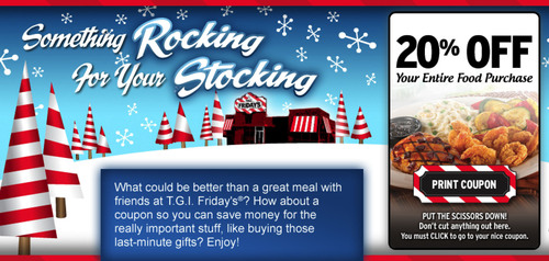 Share Some Rocking for the Stocking from T.G.I. Friday's® This Holiday Season