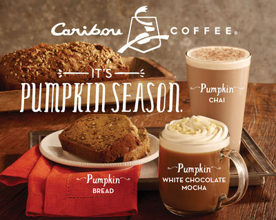 Caribou Coffee announced that it will once again offer its fans four delicious pumpkin menu items for a limited-time: Pumpkin Latte, Pumpkin White Chocolate Mocha, Pumpkin Chai and Pumpkin Bread. With flavors of ginger, pumpkin spice and cinnamon, these offerings are available hot, iced or blended and are perfect to enjoy on a crisp day, satisfying the craving for pumpkin, as well as the familiar rich and smooth flavors of fall. (PRNewsFoto/Caribou Coffee)