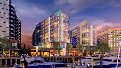 Wharf Canopy by Hilton and Hyatt House rendering