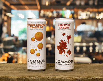 Common Cider has expanded into cans embracing Rexam's 12 oz. Sleek(R) package.