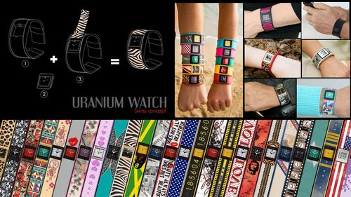 Swiss watchmaker URANIUM WATCH invents watch skins and creates an exclusive, innovative customizable concept for watches. Now, a single watch can be transformed infinitely and adapted as much as its owner desires to match clothing, shoes, bags or total look and style. URANIUM WATCH wristwatches can change looks according to fashion trends, making them awesomely in. URANIUM Watch has set an affordable pricing policy: from 59 € (75$) and the U-skins to change looks are only 5 € (6.5$). (PRNewsFoto/Mobile Wear SARL)