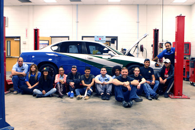 The Navigators of Maxwell High School of Technology in Atlanta, GA with the winning vehicle of the Quaker State Best In Class Challenge.