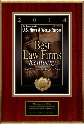 Mascagni Law Office Selected For ''Best Law Firms 2014 - Kentucky''