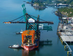 Matson's new crane arriving at Kodiak.