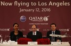 Qatar Airways Holds Press Conference For LAX Launch