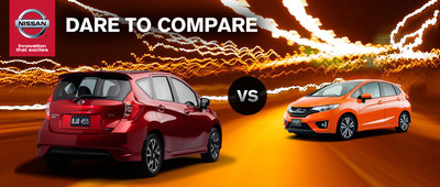 Ingram Park Nissan compares the strengths of the 2015 Nissan Versa Note and 2015 Honda Fit. (PRNewsFoto/Ingram Park Nissan)