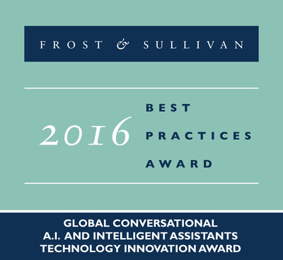 Next IT Receives 2016 Global Conversational A.I. and Intelligent Assistants Technology Innovation Award