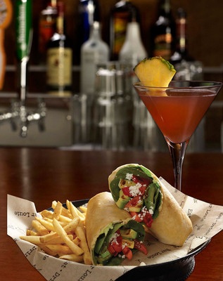 Bar Louie's Grilled Veggie Wrap and Diva Martini.  (PRNewsFoto/BL Restaurant Operations, LLC)