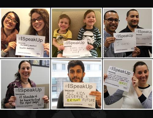 #ISpeakUp Selfies: Child Mind Institute's 4th annual campaign (PRNewsFoto/Child Mind Institute)