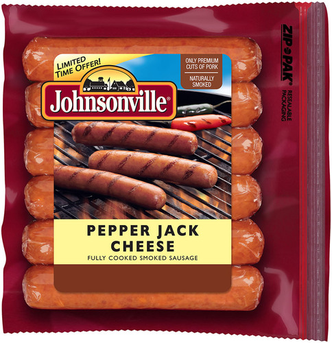 For 2013 Summer Grilling Season: Johnsonville Pepper Jack Cheese Smoked-Cooked Sausage.  (PRNewsFoto/Johnsonville Sausage, LLC)