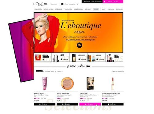 L'Oréal Paris France eboutique homepage