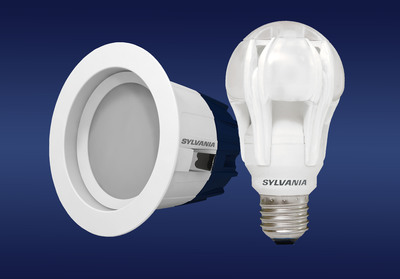 OSRAM SYLVANIA wins Lighting for Tomorrow awards for its ULTRA Omni-directional A-line 100W LED Replacement lamp and ULTRA RT4 LED Downlight Kit.  (PRNewsFoto/OSRAM SYLVANIA)