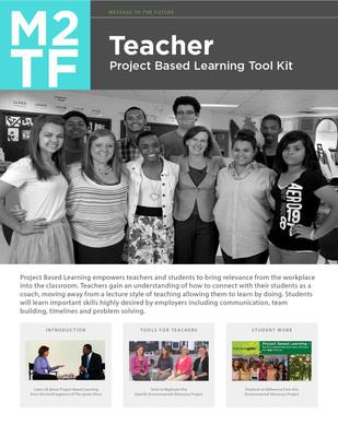 M2TF Teacher Took Kit.  (PRNewsFoto/Message to the Future Foundation)