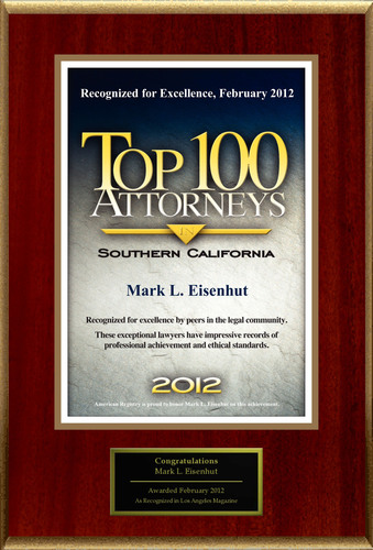 Attorney Mark L. Eisenhut Selected for List of Top Rated Lawyers in CA.
