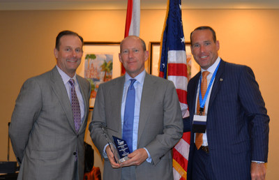 FAIA's Chairman presented the Trusted Choice award to Tower Hill (left to right: Don Matz, President; Charles Williamson, CEO; and Chip Greene, FAIA Chairman).