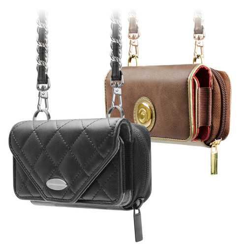 The Marware Zoey iPhone 5 purse includes a matching iPhone 5 shell case. The Zoey is available in two styles, the Zoey Luxor and the Zoey Onyx. Detachable shoulder and wrist straps allow you to use the Zoey as a purse, clutch, wristlet or wallet.  ...