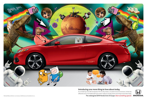 Honda Celebrates Civic with All-New 'One More Thing to Love about Today' Campaign. (PRNewsFoto/American Honda Motor Co., Inc.) (PRNewsFoto/AMERICAN HONDA MOTOR CO., INC.)