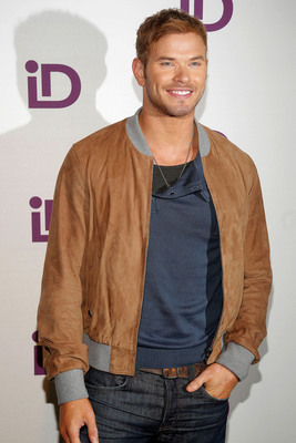 Guest host Kellan Lutz on the purple carpet at the iD Gum launch event at Helen Mills in New York City on Sept. 19.   (PRNewsFoto/iD Gum)