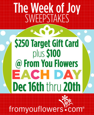 From You Flowers Launches Daily Christmas Gifts Sweepstakes, Starting Today!(PRNewsFoto/FromYouFlowers.com)