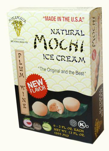 Mochi Ice Cream Plum Wine flavor.  (PRNewsFoto/Mikawaya)