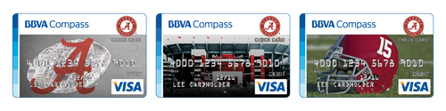 Featuring Bama Checking, Bama Savings and team-branded online and mobile banking services, BBVA Compass' Bama Banking gives enthusiastic fans another way to show their unwavering support for the University of Alabama. (PRNewsFoto/BBVA Compass)