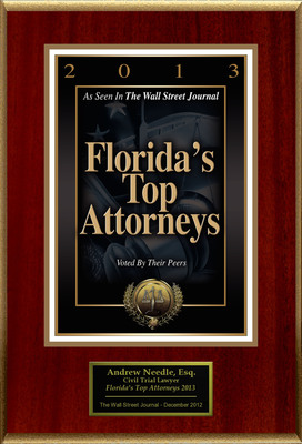 "Andrew Needle Selected For ""Florida's Top Attorneys 2013"".  (PRNewsFoto/American Registry)"