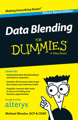 Alteryx introduces Data Blending for Dummies from Wiley, a New Book for Data Analysts Which Makes Data Blending and Data Prep Easy to Understand and Use.