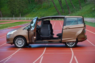 The large door opening of the Ford B-Max is one of the features that makes it an ideal vehicle to adapt for people with limited mobility.