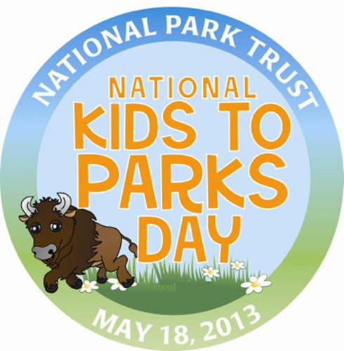 National Park Trust's Buddy Bison says, 'Ready, Set, Play...May 18 is National Kids to Parks Day'