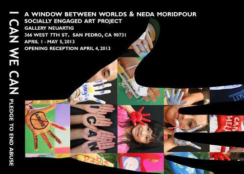 Lead artist Neda Moridpour and AWBW have designed the ongoing art project with more than 400 participants throughout Los Angeles and the world. To take the pledge and for all I CAN events and conversations go to ICANWECAN.AWBW.org.    (PRNewsFoto/A Window Between Worlds)