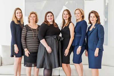 Both firms are family owned and operated, specializing in premiere properties across re-sale and new development. Left to right: Alicia Lamadrid; Alicia Cervera; Elizabeth Ann Stribling-Kivlan; Alexandra Goeseke; Alicia Cervera Lamadrid; and Veronica Cervera Goeseke. (PRNewsFoto/Cervera Real Estate)
