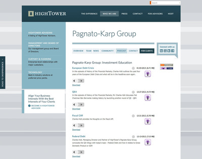 HighTower's Pagnato-Karp Group: Investment Education podcast series