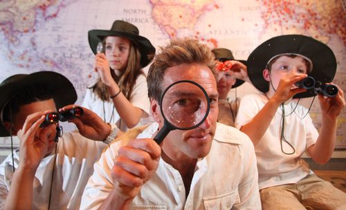 Television presenter Ben Fogle launches the Ripley's Believe It Or Not! Mini Explorer campaign with (L-R) Kyle Grant (13); Nancy Sarif (11); Jacob Waller (10); Sam Waller (8) at the attraction in central London. Potential 'Mini Explorers' are invited to upload entries (video, written or otherwise) to a dedicated micro-site showing why and how they like to explore – www.ripleyslondon.com/miniexplorer. The winner will receive a once in a lifetime trip to Orlando, Florida. (PRNewsFoto/PR NEWSWIRE EUROPE)