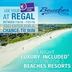 Win a Beaches Resort Vacation with Regal