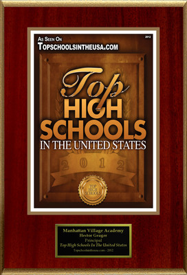 """Manhattan Village Academy Selected For """"Top High Schools In The United States"""""""