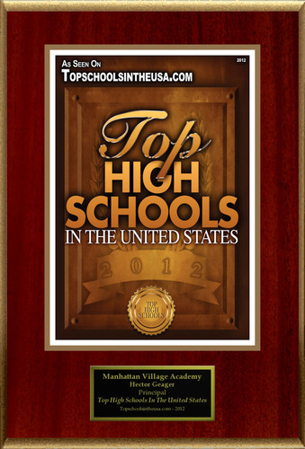 "Manhattan Village Academy Selected For ""Top High Schools In The United States"". (PRNewsFoto/Manhattan ..."