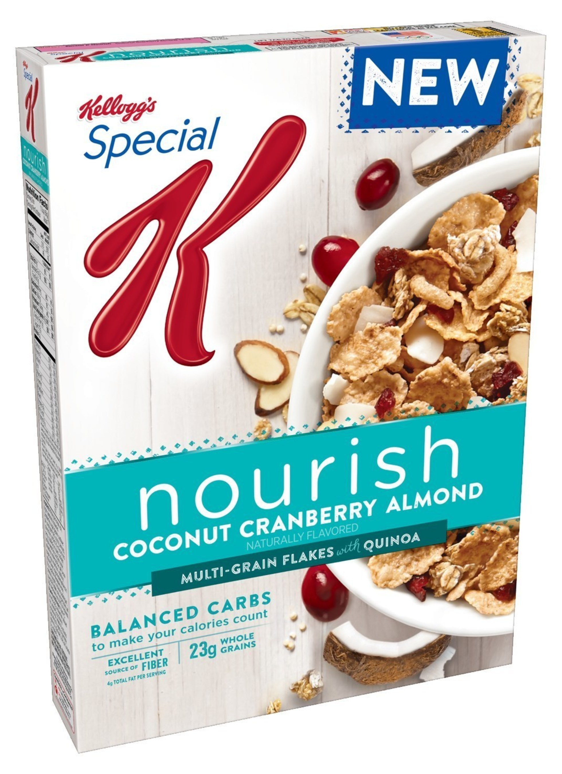 Kellogg's(R) Special K(R) Nourish Coconut Cranberry Almond cereal