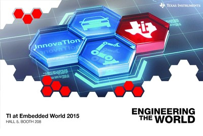 TI to drive innovation for IoT, industrial and automotive applications at embedded world 2015