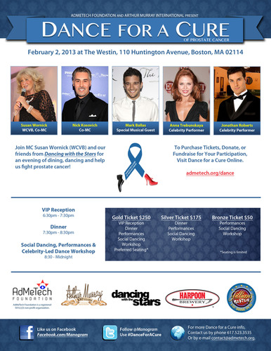 Dance for a Cure of Prostate Cancer is being held on February 2, 2013 in Boston, MA and features performances ...