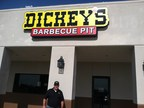 Marine Veteran Tracy Norris outside his new Dickey's Barbecue Pit in Sanger. The location opens Thursday with gift card giveaways. (PRNewsFoto/Dickey's Barbecue)