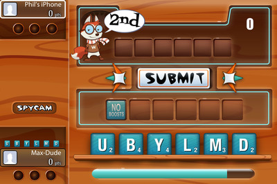 Lose the wait with Match-Up! by Big Fish's real-time bracketed mobile tournaments on iOS.  Choose among 3 skilled-based games to match-up against your friends in real-time. In Match-Up!'s WordRack players race against each other and a 30-second clock to  make the highest value word  using as many letters as they can.