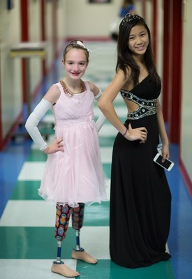 Patients at St. Joseph's Children's Hospital in Tampa trade their hospital gowns for dresses and prepare to attend a special prom held in the hospital's auditorium Friday, April 29, 2016. Photo by Will Staples