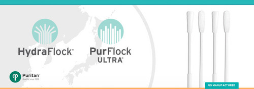 Puritan Medical Products awarded two new Japanese patents for high-performance flocked swabs. Puritan's flocked swabs have been shown to be the most efficient on the market.  (PRNewsFoto/Puritan Medical Products)