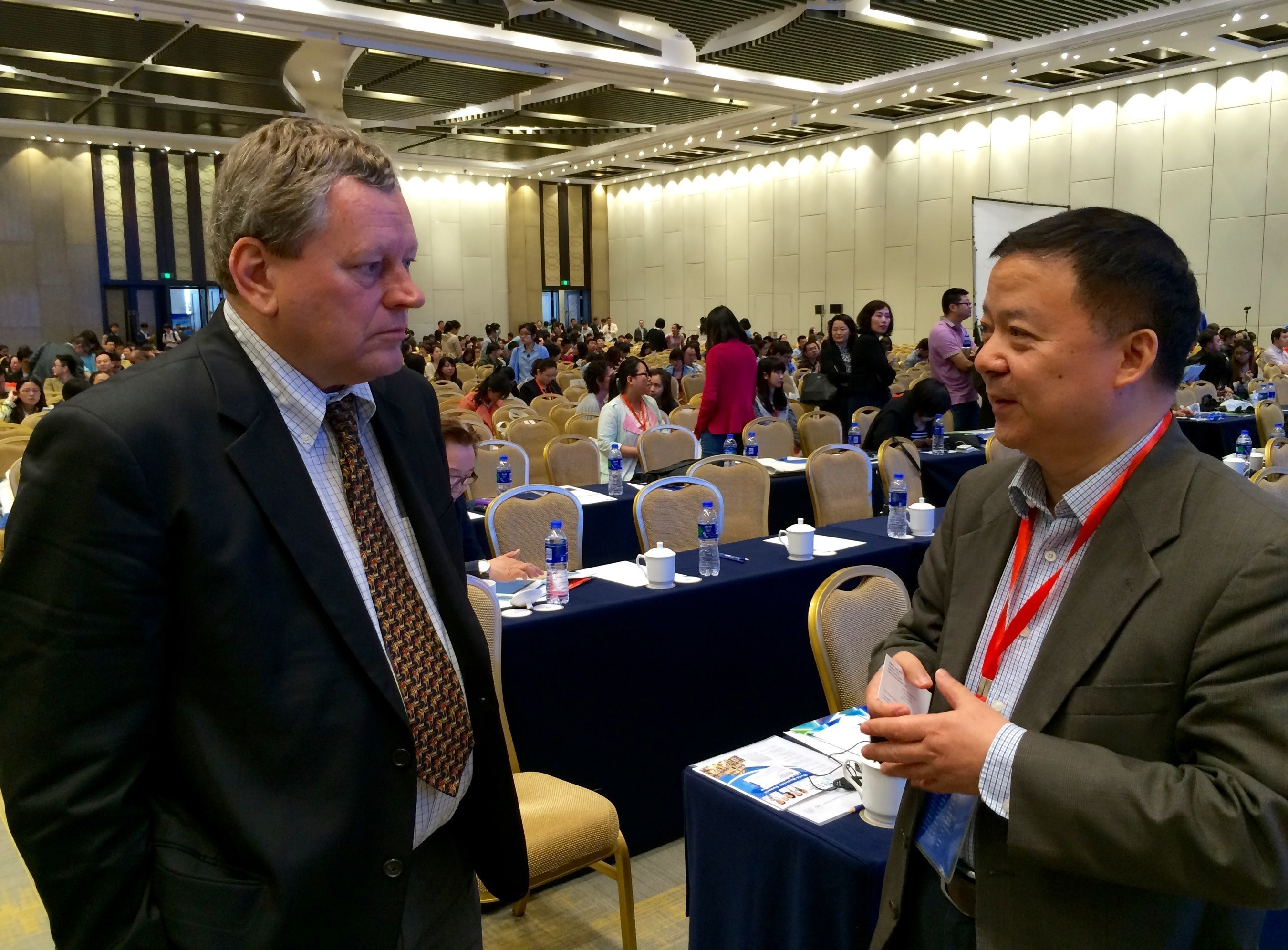 The 2015 Nobel Prize Laureate Summit on Cancer Research (NPLS) in Tianjin, China, hosted five Nobel Laureates and the world's top researchers this week, for an unprecedented sharing of the latest cancer research technology and projections; among them, featured, published presenters (pictured left-to-right) Dr. Webster Cavenee, Director, Ludwig Institute for Cancer Research in San Diego; and Dr. Chris Yu, CEO of Anpac Bio-Medical Science Company in Shanghai China and Sacramento, CA. ...