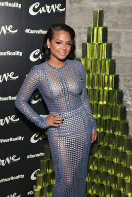 Actress & Grammy Nominated Singer/Songwriter Christina Milian hosts the launch of #CurveYourReality campaign for Curve Fragrances For Men in New York City.