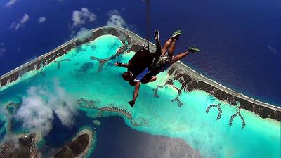 "Tahiti's romantic island of Bora Bora stars in ""The Amazing Race"".  (PRNewsFoto/Air Tahiti Nui)"